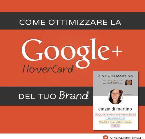 [infografica] Come ottimizzare la tua Google Plus HoverCard