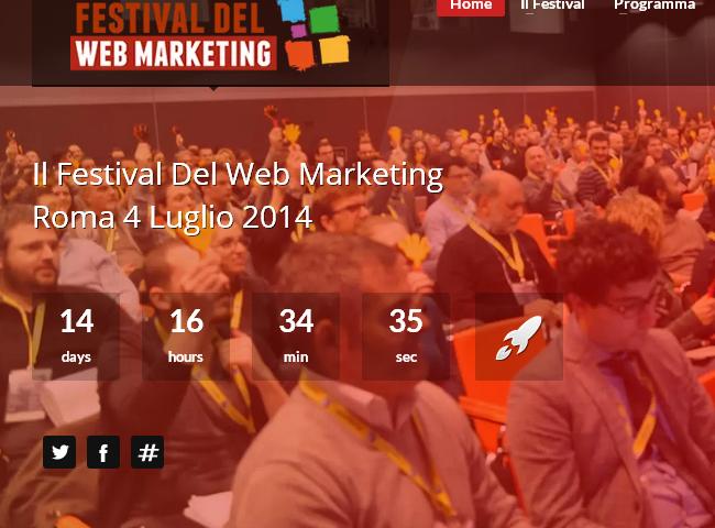 Festival del Web Marketing: per chi vive di web!