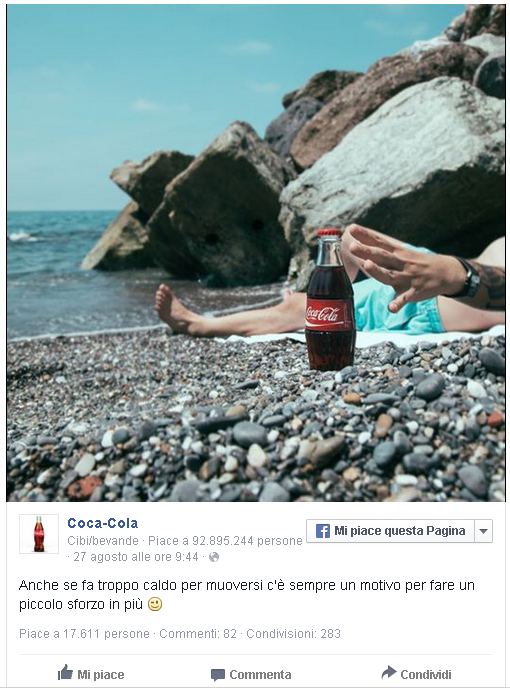 Content Marketing. cocacola e il caldo