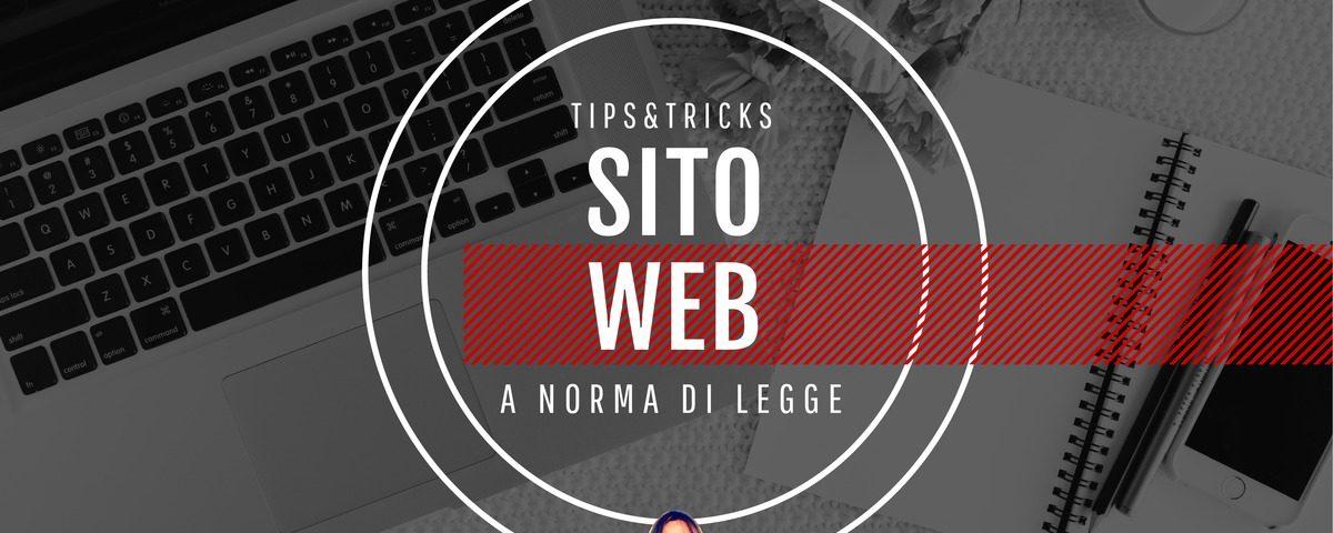 Come rendere un sito web a norma di legge