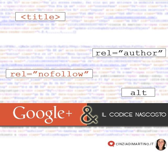 Google+ e il codice nascosto