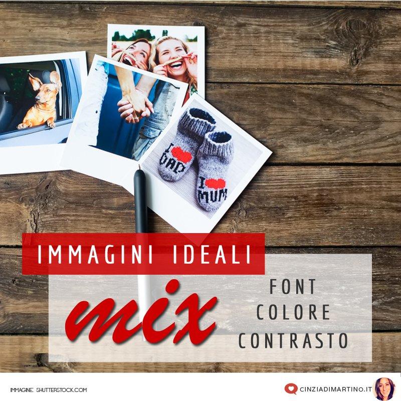 Immagini ideali: mix di font, colore e contrasto