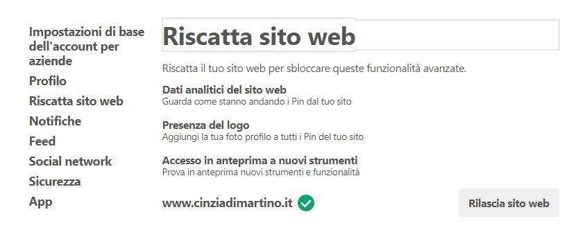 Pinterest : cos'è e come impostare un account Business | Cinzia Di Martino