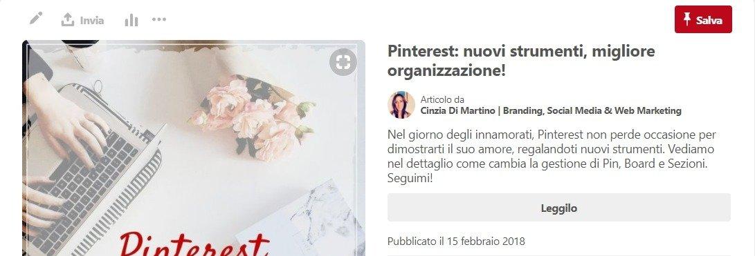 Pinterest: cosa sono e come impostare i Rich Pin | Cinzia Di Martino