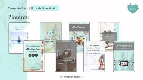 Canva Template Pack | Azure Yoga | Cinzia Di Martino