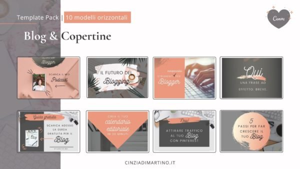 Canva Template Pack | Silver Blogger | Cinzia Di Martino