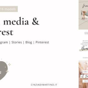 Canva Template Pack | Timberwolf Fashion | Cinzia Di Martino