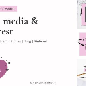 Canva Template Pack | Rosa Blogger | Cinzia Di Martino