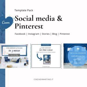 Canva Template Pack | Blue Lifestyle | Cinzia Di Martino