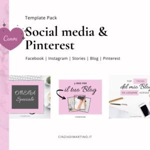 Canva Template Pack | Rosa Blogger | Cinzia Di Martino