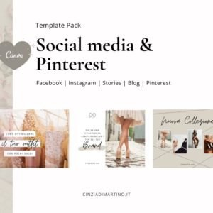 Canva Template Pack | Timberwolf Fashion | Cinzia Di Martino