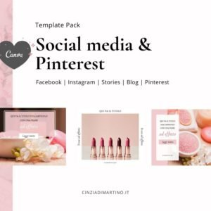 Canva Template Pack | Pink Beauty | Cinzia Di Martino