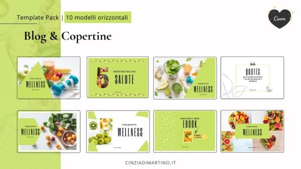 Canva Template Pack | Green Wellness | Cinzia Di Martino
