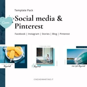 Canva Template Pack | Blue Breeze | Cinzia Di Martino