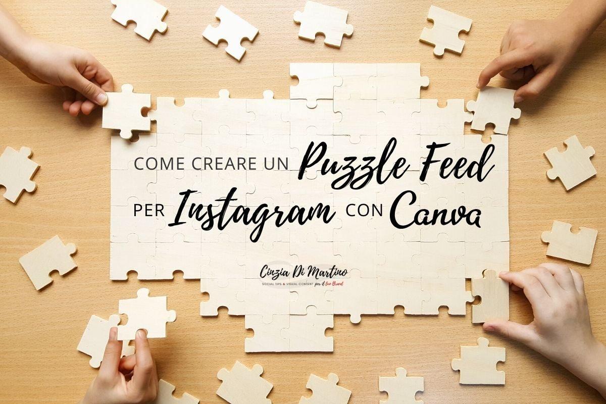 Come creare un Puzzle Feed su Instagram con Canva
