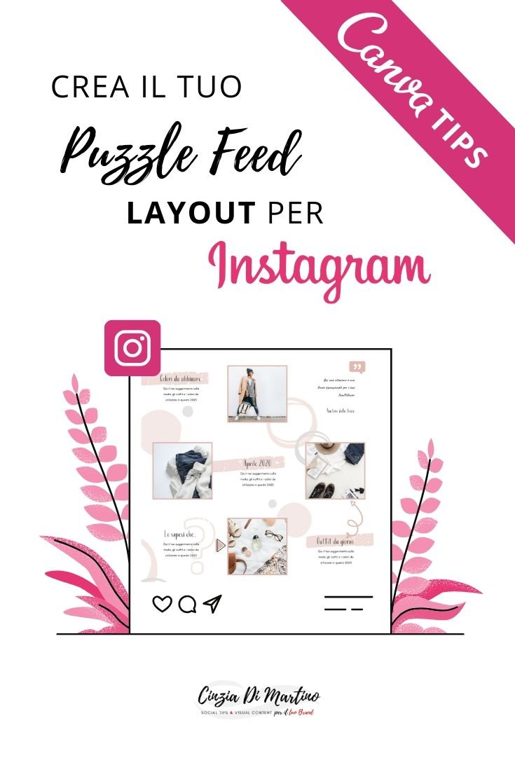 Come creare un Puzzle Feed su Instagram con Canva | Cinzia Di Martino