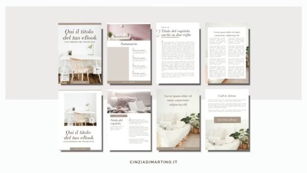 eBook Template Canva | Tortora | Cinzia Di Martino