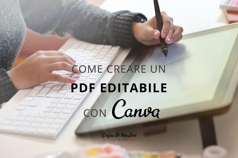 Come creare un pdf editabile con Canva Cinzia Di Martino